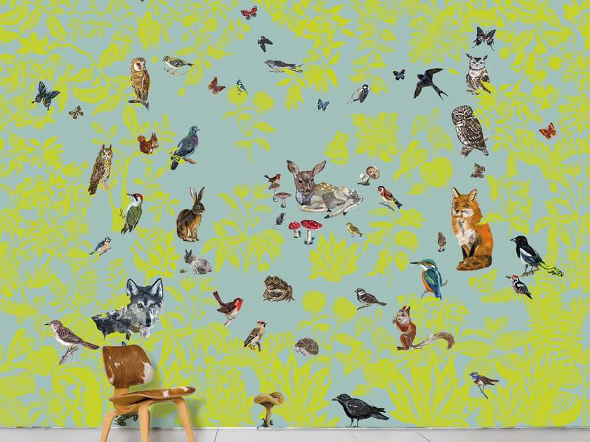 Panoramic wallpaper FORÈT VERTE by Moustache