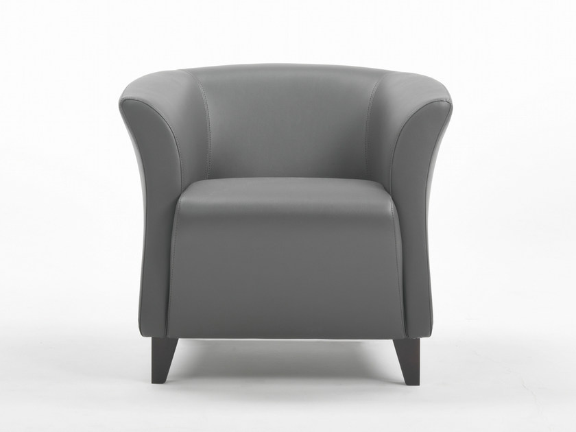 Club upholstered armchair with armrests