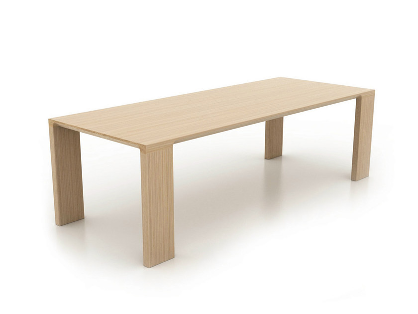 Rectangular oak table