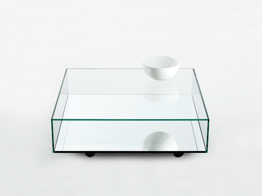 Low mirrored glass coffee table REFLECT - BENSEN
