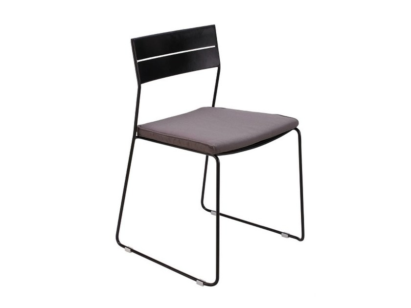 Sled base stackable powder coated steel chair PUBLIC | Chair - NORR11