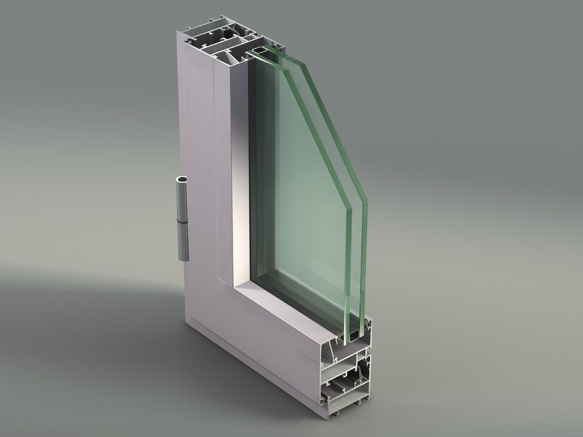 Aluminium casement window NC 50 I by METRA