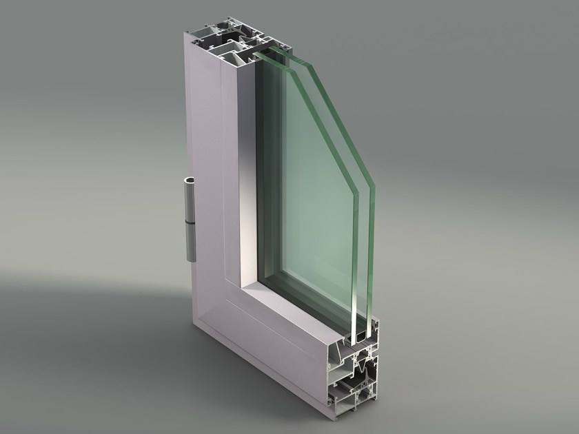 Aluminium casement window NC 50 STH - METRA