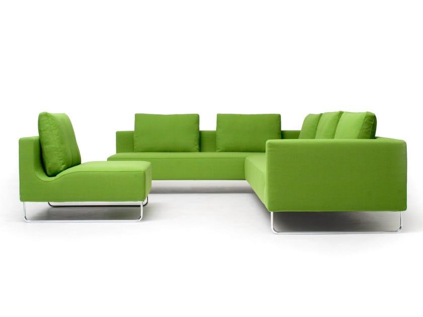 Corner upholstered sofa