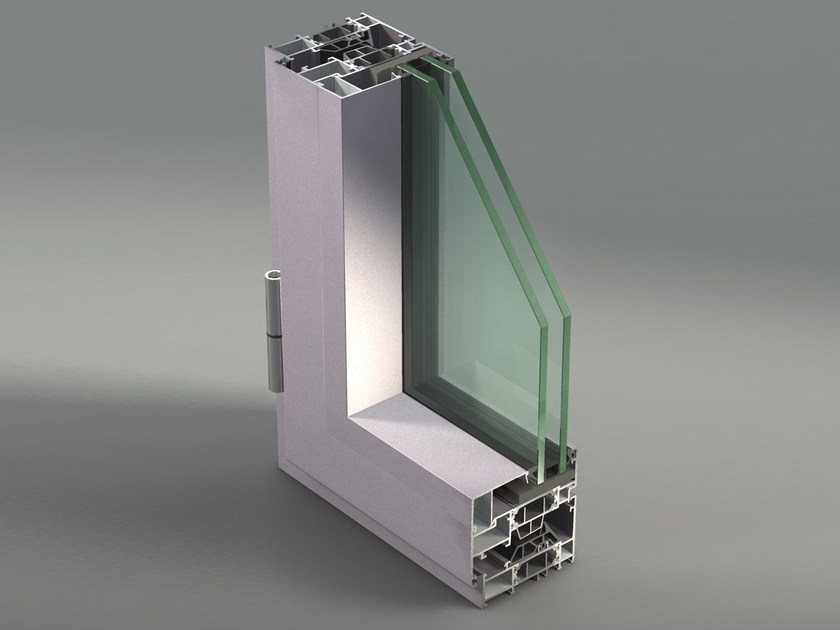 Aluminium casement window NC 75 STH by METRA