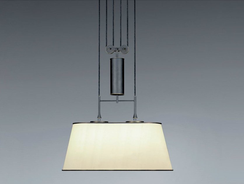 Adjustable pendant lamp ZYLINDERZUG by Kalmar