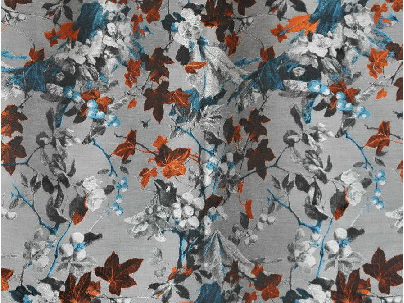 Jacquard viscose upholstery fabric MOUSSON by LELIEVRE
