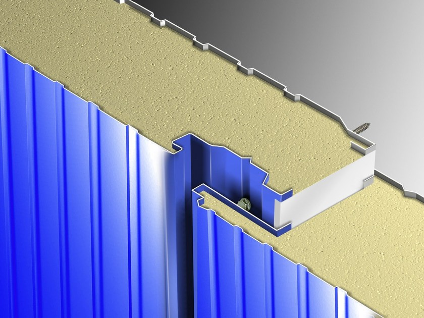 Insulated metal panel for facade STAR - Isometal