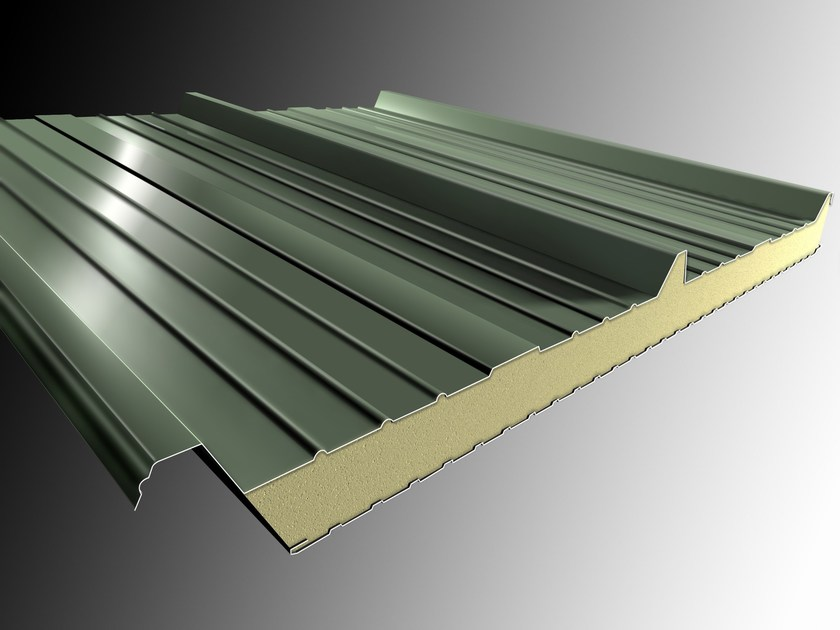 Insulated metal panel for roof ISOMETAL 3G by Isometal