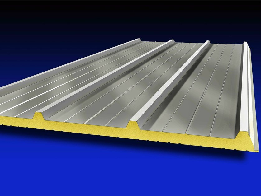 Insulated metal panel for roof ISOMETAL 4G by Isometal