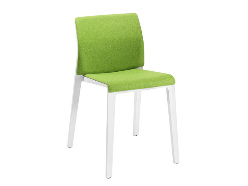 Upholstered stackable chair - Sedia
