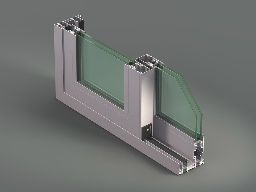 Aluminium thermal break window NC-S 120 STH - METRA