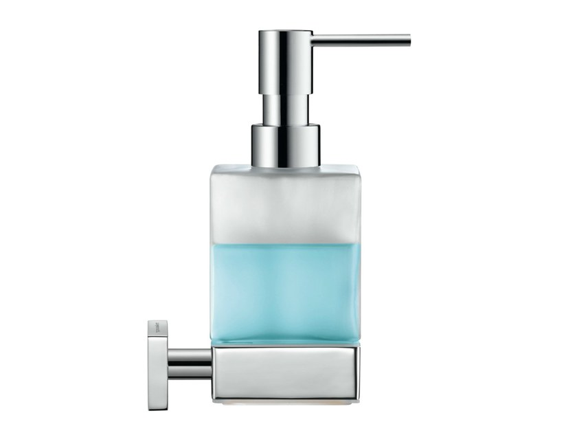 Wall-mounted glass liquid soap dispenser KARREE | Liquid soap dispenser - DURAVIT