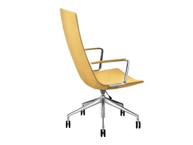 Office 5 ways aluminum with armrests CATIFA 60 | Task chair with armrests - Arper