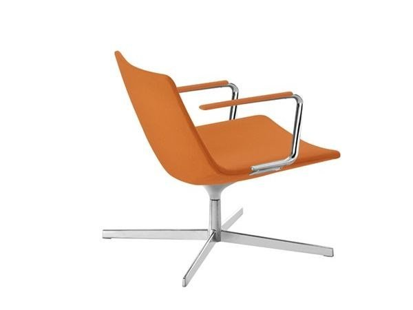 Easy chair with 4-spoke base with armrests CATIFA 60 | Easy chair with 4-spoke base - Arper