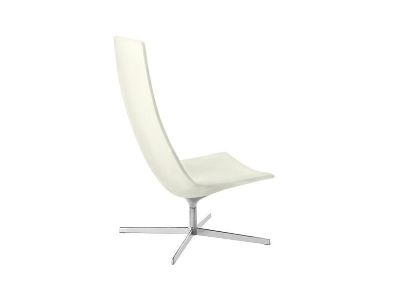 Easy chair with 4-spoke base high-back CATIFA 60 | Easy chair high-back - Arper