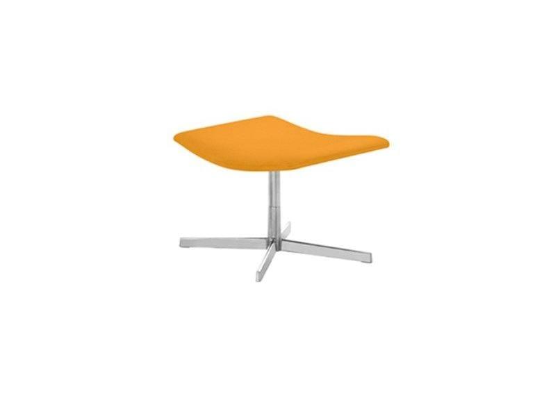 Design leather footstool with 4-spoke base CATIFA 60 | Footstool - Arper
