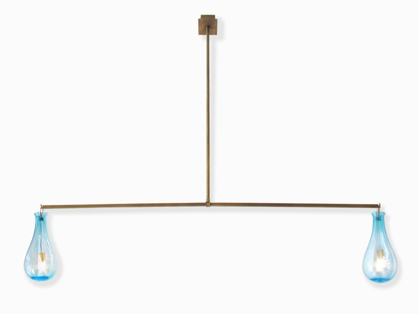 Murano glass pendant lamp DROP | Pendant lamp by Veronese