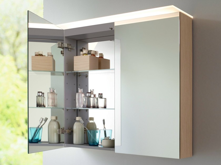 Wall cabinet with doors with mirror X - LARGE | Wall cabinet with mirror - DURAVIT