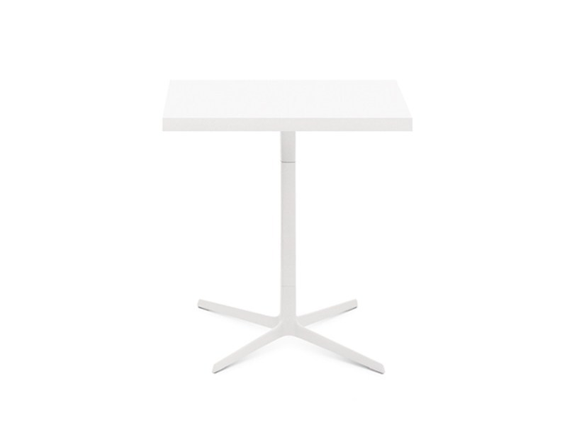 Square table with 4-star base FRED H 74 | Square table by arper