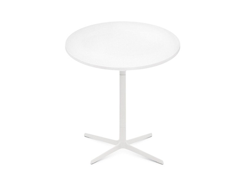 Round table with 4-star base FRED H 74 | Round table by arper