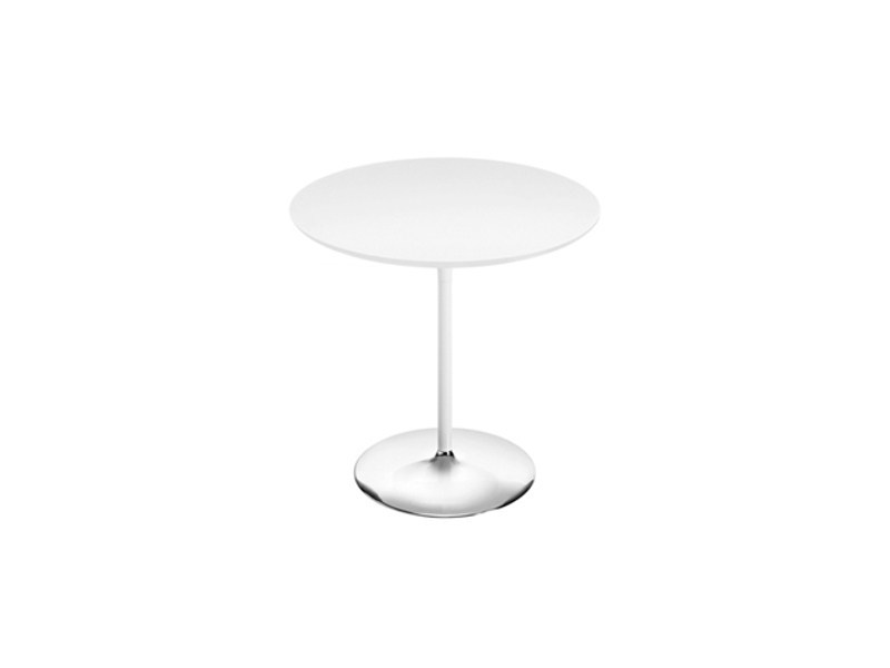 Design round MDF table DUNA | Round table by arper