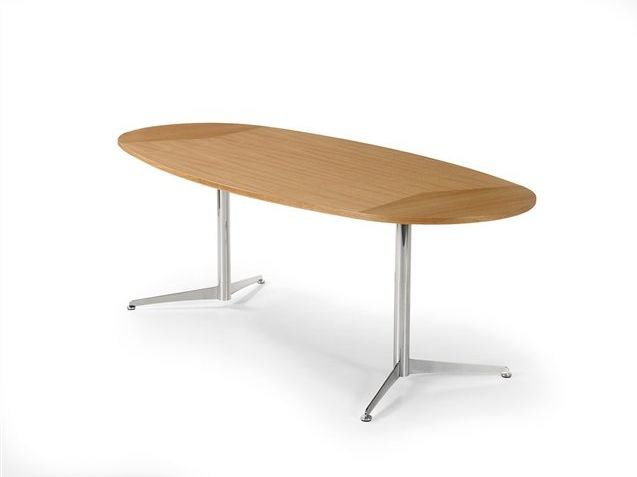 Dining oval wooden table