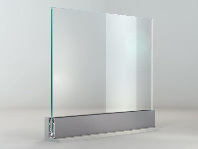 Glass and aluminium Window railing THEATRON - METRA