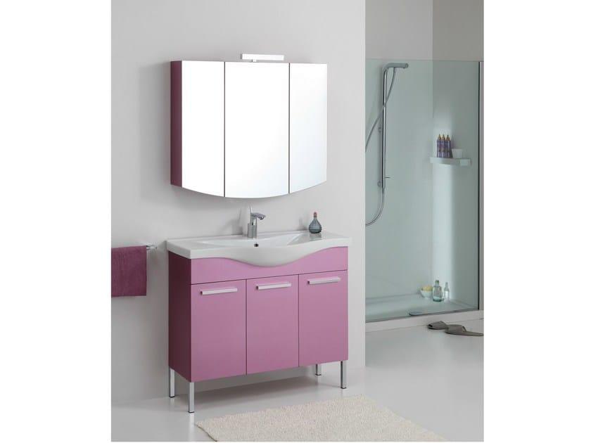 Mobile lavabo in legno con specchio tribeca 22 collezione urban by legnobagno - Legnobagno prezzi ...