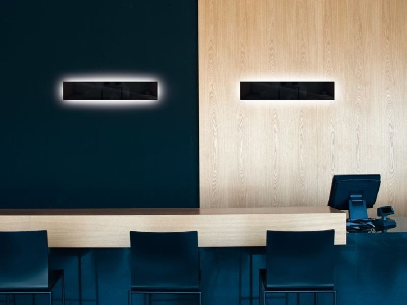 PMMA wall light CUBO FLAT 100 by Lombardo