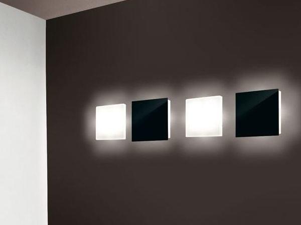 PMMA wall light CUBO FLAT 380 - Lombardo