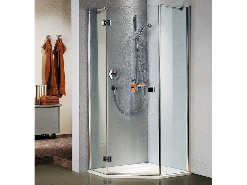 cabine de douche d 39 angle avec porte battante stila 5000 cabine de douche avec bac collection. Black Bedroom Furniture Sets. Home Design Ideas