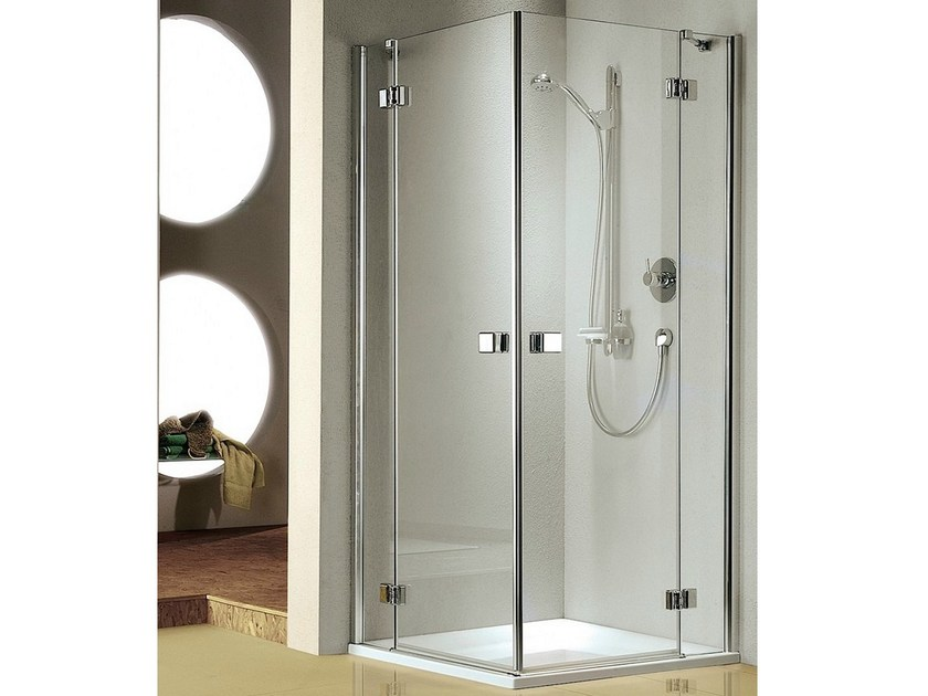 Cabine de douche en verre avec porte battante stila 5000 - Porte battante en verre ...
