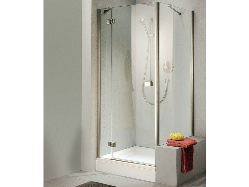 Corner Shower Cabin With Hinged Door Stila 5000 Vertica