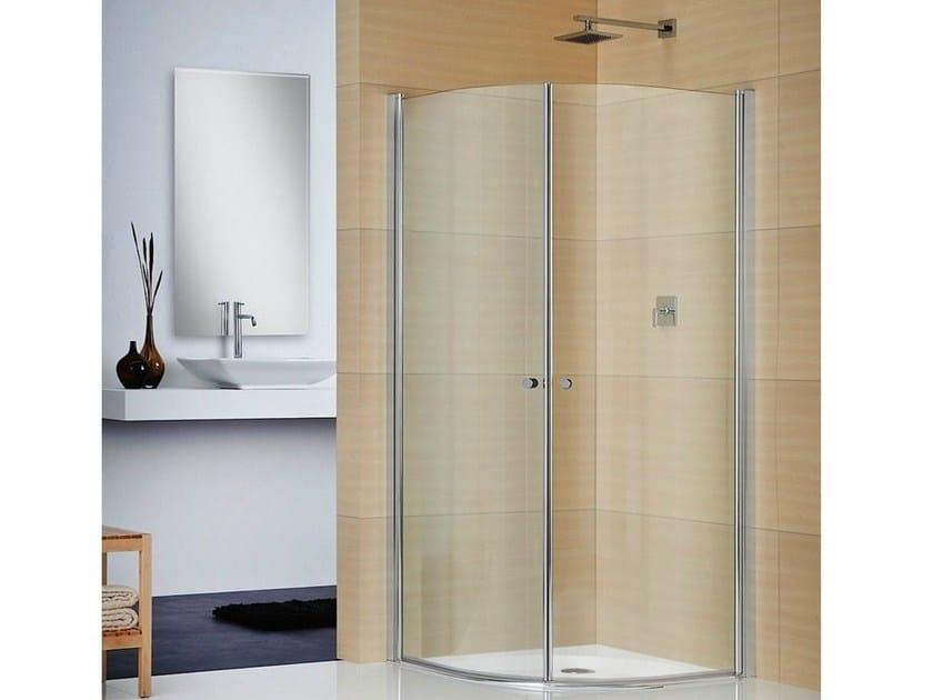 Box doccia angolare in cristallo multi s 4000 duka for Duka cabine doccia