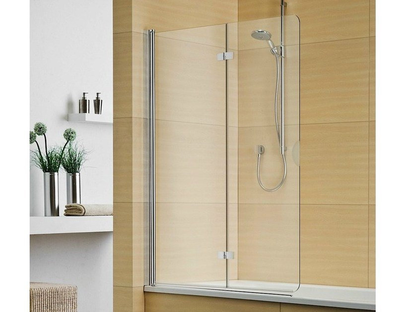 Folding crystal bathtub wall panel MULTI-S 4000 - DUKA
