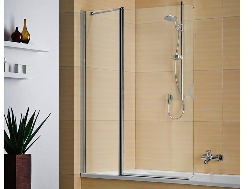 Folding crystal bathtub wall panel MULTI-S 4000 - DUKA