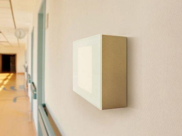 LED glass and aluminium built-in lamp