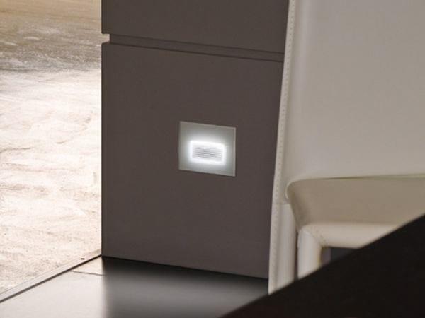 LED glass and aluminium foot- and walkover light STILE NEXT 503 ASIMMETRICO - Lombardo