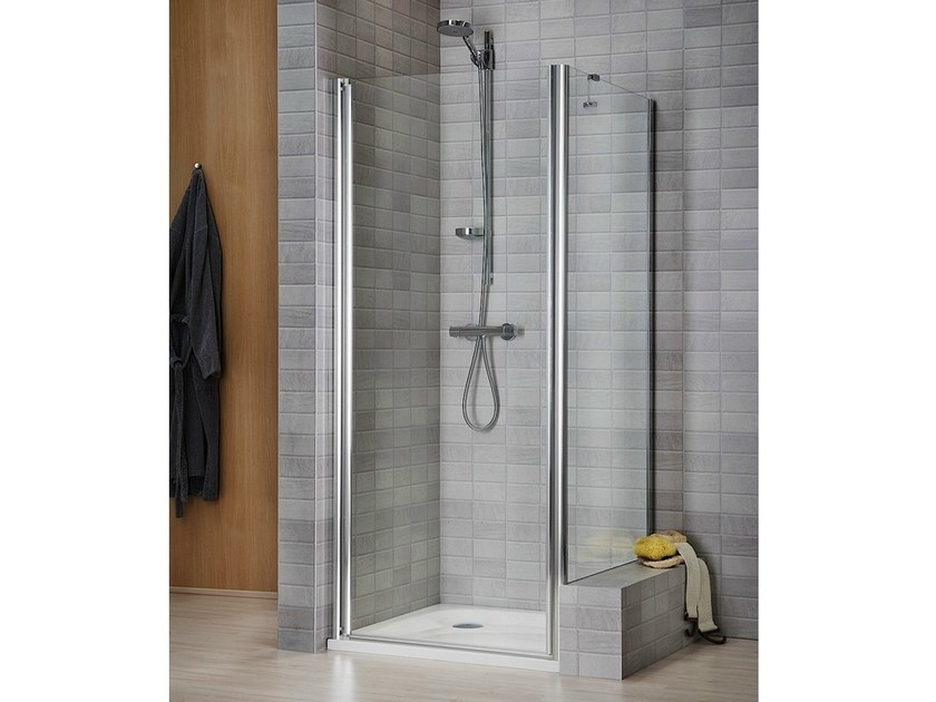 Crystal shower cabin with tray VELA 2000 - DUKA