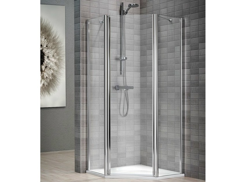 cabine de douche en cristal avec bac vela 2000 by duka. Black Bedroom Furniture Sets. Home Design Ideas