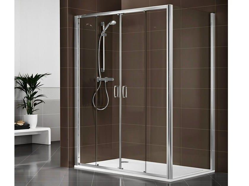 Crystal shower cabin with tray DUKESSA-S 3000 by DUKA