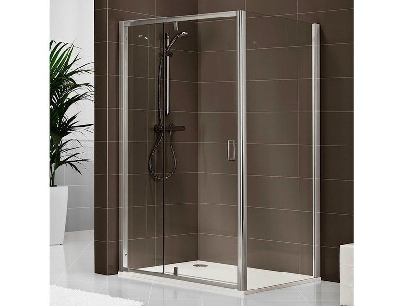 Cabine de douche rectangulaire en cristal dukessa s 3000 collection quadra by - Cabine douche rectangulaire ...