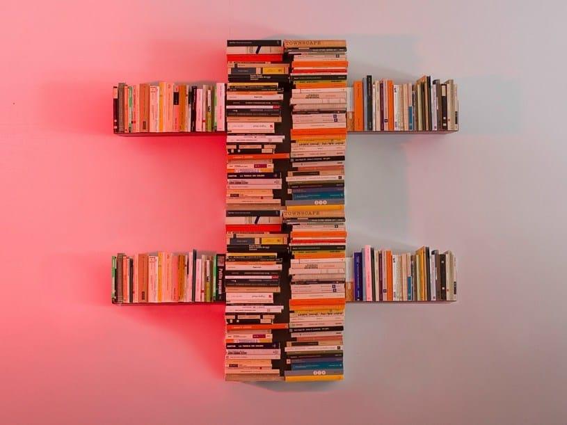 Biblioth Que Ouverte Suspendue En Acier Double Croix By Teebooks Design Mauro Canfori