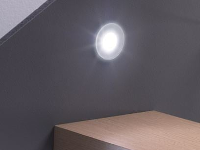 LED built-in glass and aluminium spotlight