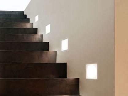 LED direct light glass and aluminium built-in lamp