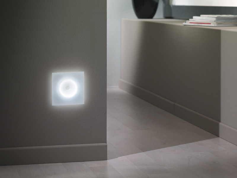 LED direct light glass and aluminium built-in lamp