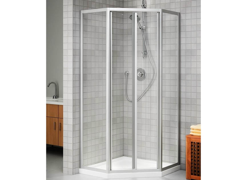 cabine de douche d 39 angle en cristal prima glass 2000 collection quadra by duka. Black Bedroom Furniture Sets. Home Design Ideas