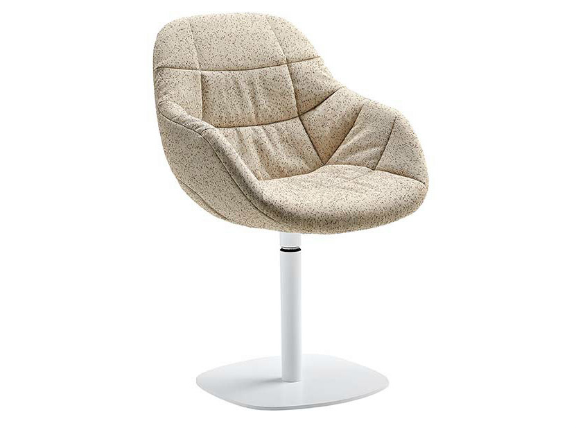 Swivel upholstered low lounge chair