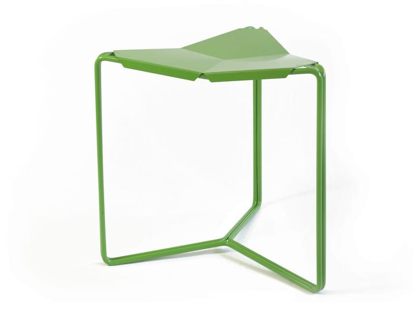 Low steel stool